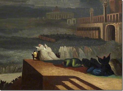 DETAIL: The Repentance of Nineveh (Buße der Niniviten/ La repentance de Ninive), 1829 (original), after John Martin