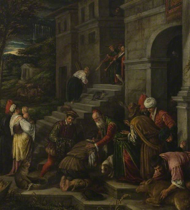 The Return of the Prodigal Son, 1577-1592, attributed to Francesco Bassano (called Francesco da Ponte, Italian Mannerist Painter, ca. 1549-1592)