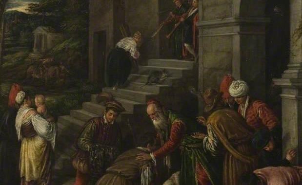 The Return of the Prodigal Son, 1577-1592, attributed to Francesco Bassano (called Francesco da Ponte, Italian Mannerist Painter, ca. 1549-1592)