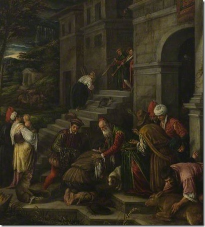 The Return of the Prodigal Son, 1577-1592, attributed to Francesco Bassano