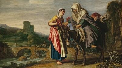 Ruth Declares her Loyalty to Naomi (Ruth zweert trouw aan Naomi / Ruth erklärt Naëmi die Treue), c. 1614, Pieter Lastman