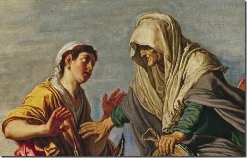 DETAIL: Ruth Declares her Loyalty to Naomi (Ruth zweert trouw aan Naomi / Ruth erklärt Naëmi die Treue), c. 1614, Pieter Lastman