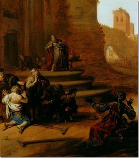 DETAIL: Saints Paul and Barnabas at Lystra (Sacrifice at Lystra), 1637, Bartholomeus Breenbergh