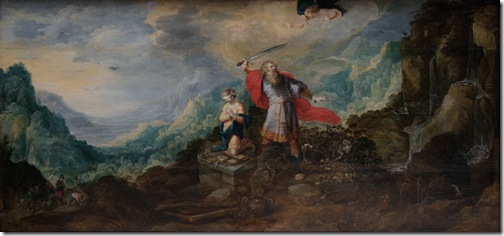 Landscape with the Sacrifice of Abraham (Landschap met het offer van Abraham / Paysage avec l'offrande d'Abraham), first half 17th century, Frans Francken II