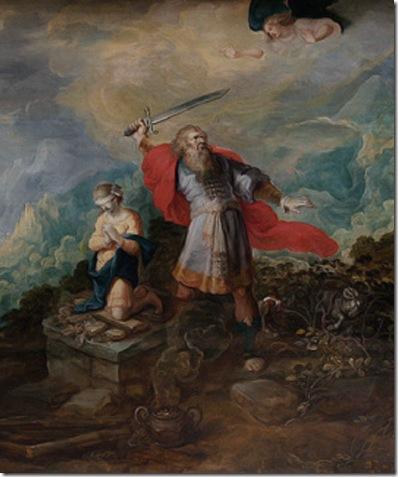 DETAIL: Landscape with the Sacrifice of Abraham (Landschap met het offer van Abraham / Paysage avec l'offrande d'Abraham), first half 17th century, Frans Francken II