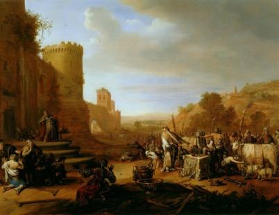 Saints Paul and Barnabas at Lystra (Sacrifice at Lystra), 1637, Bartholomeus Breenbergh
