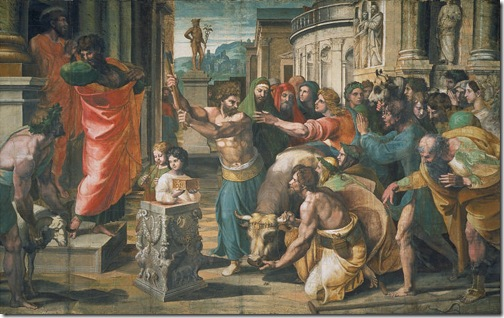 The Sacrifice at Lystra, 1515-16, Raphael Sanzio