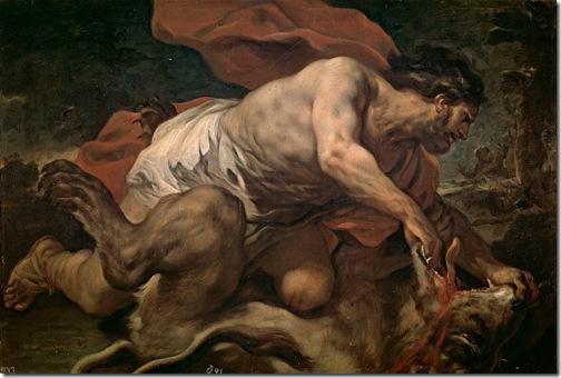 Samson and the Lion (Sansón y el león), 1695-1696, Luca Giordano