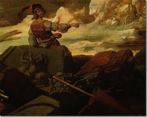 DETAIL: The Stoning of St. Stephen (De steniging van Stefanus), 1632, Bartholomeus Breenbergh