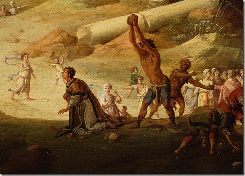 DETAIL: The Stoning of St. Stephen (De steniging van Stefanus), 1632, Bartholomeus Breenbergh