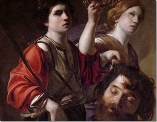 DETAIL: The Triumph of David (Le triomphe de David / David triomphant), ca. 1615, Bartolomeo Manfredi