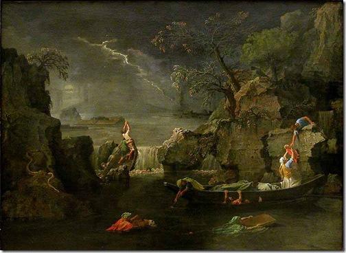 The Winter (The Flood / L'Hiver (Le Déluge), 1660-1664, Nicolas Poussin