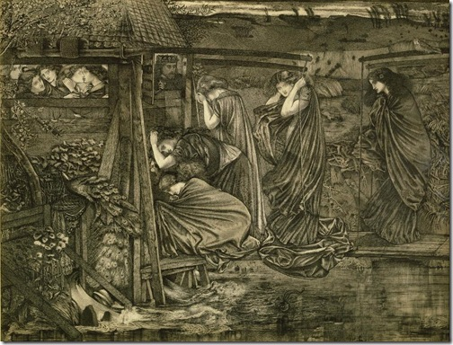 The Wise and Foolish Virgins, 1859, Edward Coley Burne-Jones