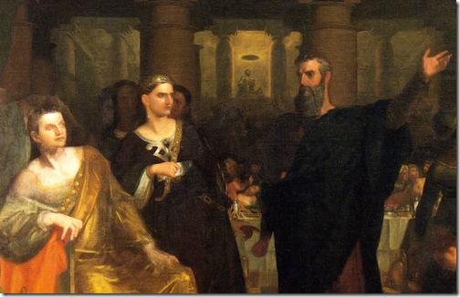 DETAIL: Belshazzar's Feast, 1817/1843, Washington Allston