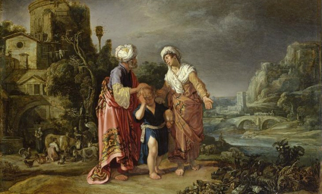 "Hagar's Expulsion (""Punishment of Hagar and Ishmael"" / ""Hagar's farewell"" / Die Verstoßung der Hagar / ""Abschied Hagars""), 1612, Pieter Lastman"