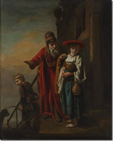 Abraham Dismissing Hagar and Ishmael, 1653, Nicolaes Maes