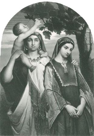 Leah and Rachel, Herbert K. Bourne, after Jean-François Portaels