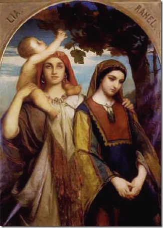Leah and Rachel, 1862, Jean-François Portaels