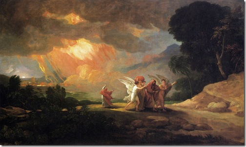 Lot Fleeing from Sodom, 1810, Benjamin West