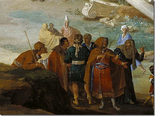 DETAIL: Moses and Aaron Changing the Rivers of Egypt to Blood, 1631, Bartholomeus Breenbergh