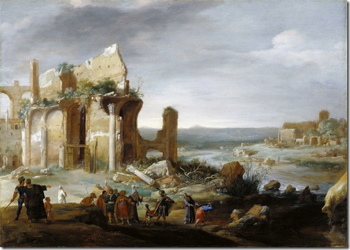 Moses and Aaron Changing the Rivers of Egypt to Blood, 1631, Bartholomeus Breenbergh