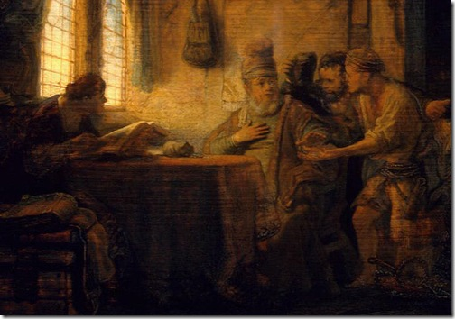 DETAIL: Parable of the Labourers in the Vineyard, 1637, Rembrandt van Rijn