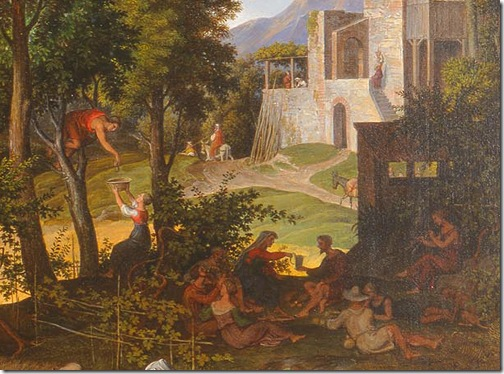 DETAIL: Landscape with Ruth and Boaz, ca. 1823–25, Joseph Anton Koch