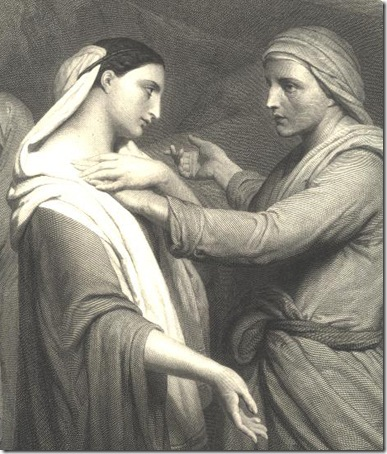 DETAIL: Ruth and Naomi, Herbert K. Bourne, after Ary Scheffer