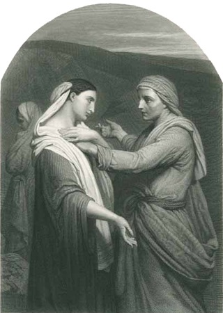 Ruth and Naomi, Herbert K. Bourne, after Ary Scheffer