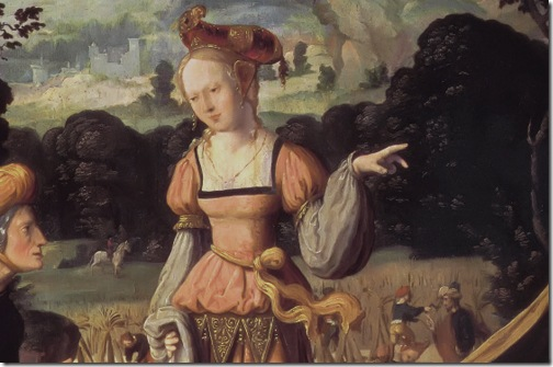 DETAIL: Ruth and Naomi in the field of Boaz (Ruth und Naemi auf dem Acker des Boas), c. 1530-40, Jan van Scorel
