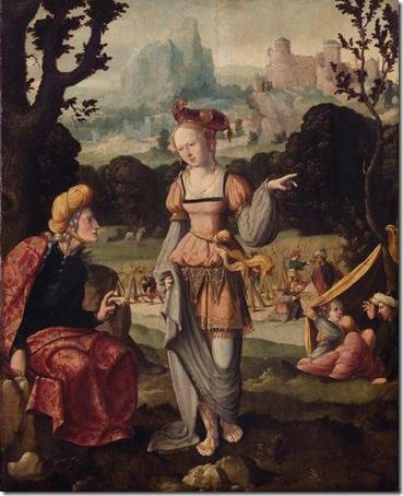Ruth and Naomi in the field of Boaz (Ruth und Naemi auf dem Acker des Boas), c. 1530-40, Jan van Scorel