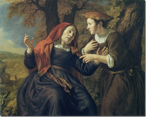 "Ruth and Naomi (""Naomi gives counsel to Ruth"" / ""Naomi believes Ruth the faithful""), 1653, Jan Victors"