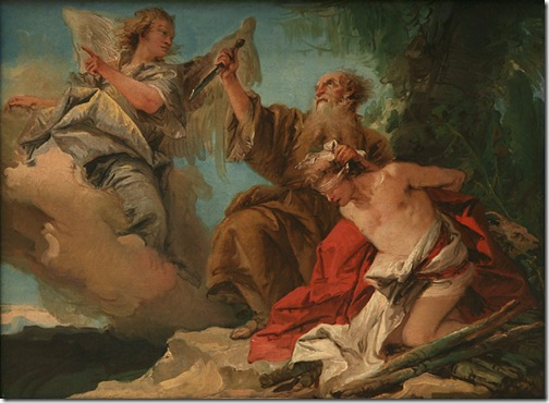 The Sacrifice of Isaac (Le sacrifice d'Isaac), mid-1750s, Giovanni Domenico Tiepolo