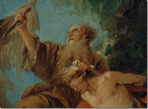 DETAIL: The Sacrifice of Isaac (Le sacrifice d'Isaac), mid-1750s, Giovanni Domenico Tiepolo