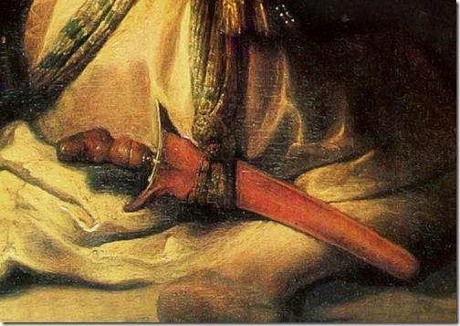 DETAIL: Samson and Delilah (Samson verraden door Delila), 1628, Rembrandt van Rijn