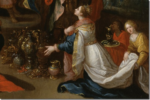 DETAIL: King Solomon Receiving the Queen of Sheba, 1620-1629, Frans Francken II