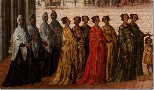 DETAIL: The Meeting of Solomon and the Queen of Sheba (Encuentro de Salomón y la reina de Seba), 1630-1660, Circle of Juan de la Corte