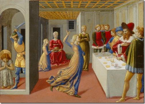 The Feast of Herod and the Beheading of Saint John the Baptist, 1461-1462, Benozzo Gozzoli