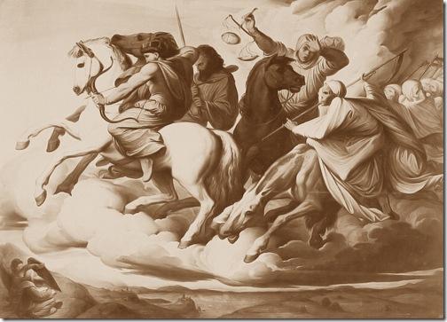 Four Horsemen of the Apocalypse (Die apokalyptischen Reiter / Les Quatre Cavaliers de l'Apocalypse), 1838, Edward von Steinle