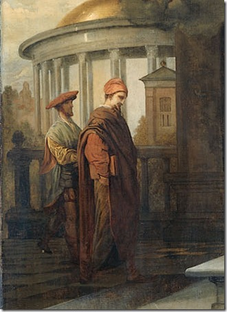 DETAIL: The Pharisee and the Publican (De Farizeeër en de tollenaar), 1661, Barent Fabritius
