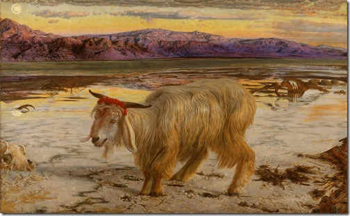 The Scapegoat (Le bouc émissaire / Der Sündenbock), 1854-1856, William Holman Hunt