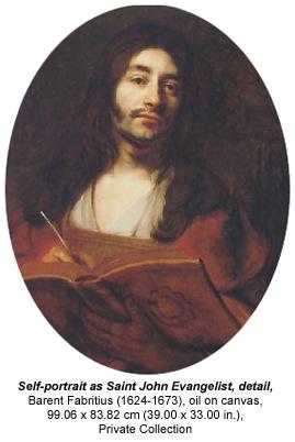 Self-portrait as Saint John Evangelist, detail, Barent Fabritius