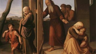 Abraham Casting Out Hagar and Ishmael (Expulsion of Hagar and Ishmael by Abraham / Abraham verstößt Hagar und Ismael), 1841, Johann Friedrich Overbeck