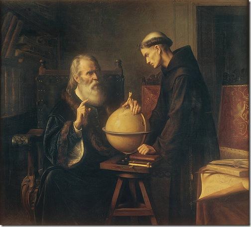 Galileo Demonstrating the New Astronomical Theories at the University of Padua (Galileo en la Universidad de Padua demostrando las nuevas teorías astronómicas), 1873, Félix Parra