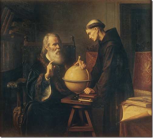 Galileo Demonstrating the New Astronomical Theories at the University of Padua (Galileo en la Universidad de Padua demostrando las nuevas teorías astronómicas), 1873, Félix Parra