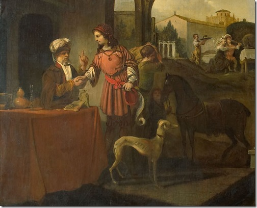 DETAIL: The prodigal son (De verloren zoon), 1661, Barent Fabritius