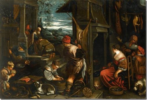 The Return of the Prodigal Son, c. 1576-1577,  Jacopo Bassano