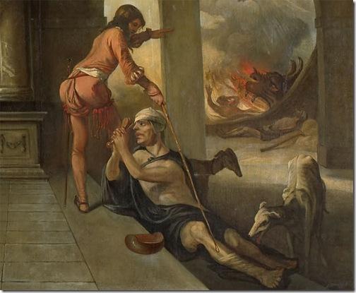 DETAIL: The rich man and Lazarus (De rijke man en de arme Lazarus), 1661, Barent Fabritius