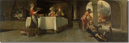 The rich man and Lazarus (De rijke man en de arme Lazarus), 1661, Barent Fabritius