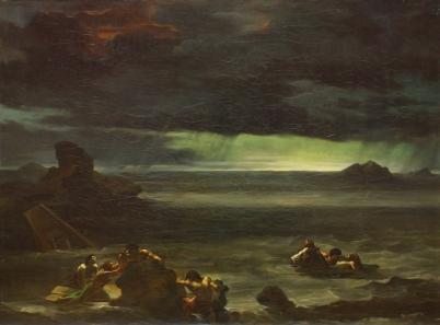 Scene of the Deluge (Scène de déluge), 1818-20, Théodore Géricault